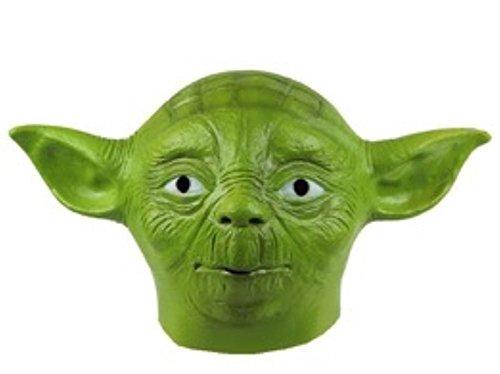 [Latex Yoda Head Mask Creepy Halloween Costume] (Yoda Costumes For Adults)