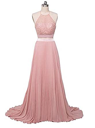 Beauty-Emily Evening Dresses Women's Long Pink Hanging