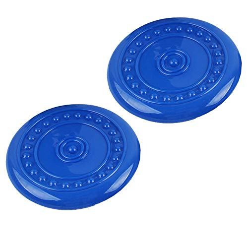 - Rubber Flyer Flying Discs Dog Toy Durable Non-Toxic Soft Flexible Foldable Flyer Disc Flyer Chew and Fetch Toy for Dogs,Dog Flying Saucer Toy for Interactive Fun Play Exercising Blue L