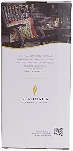 Luminara Outdoor Flameless Candle: Plastic Finish, Unscented Moving Flame Candle with Timer (9'' Ivory) by Luminara (Image #7)