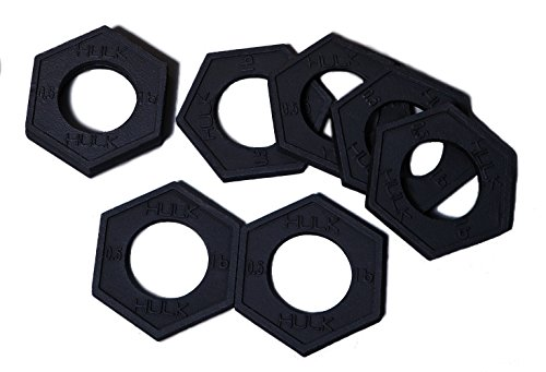 Olympic Fractional Plates - Mirco Weight Set of 8 x 0.5 lb Plates for Barbell or Dumbbell