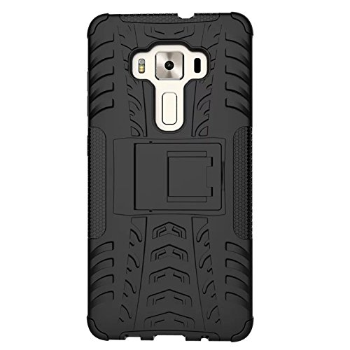 Asus Zenfone 3 Deluxe ZS570KL Funda, adorehouse Hybrid TPU y PC Bumper Back Cover [diseño 2 en 1] Anti-Gota Anti-Choques Rígido Carcasas para Asus Zenfone 3 Deluxe ZS570KL 5.7 inch (Blanco) Naranja