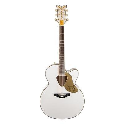 Gretsch Guitars G5022C Rancher Falcon Cutaway Acoustic-Electric Guitar White: Musical Instruments