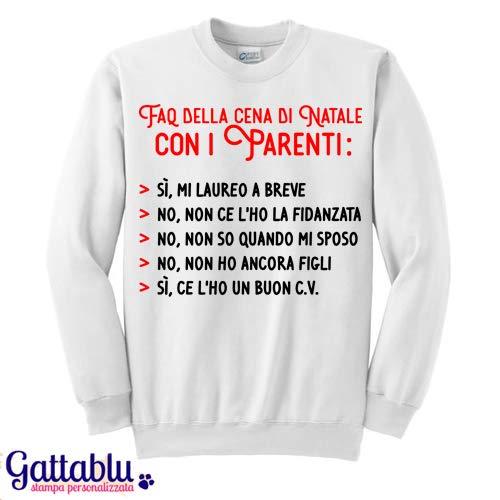 Felpa Donna Faq Della Cena Di Natale Con I Parenti Risposte