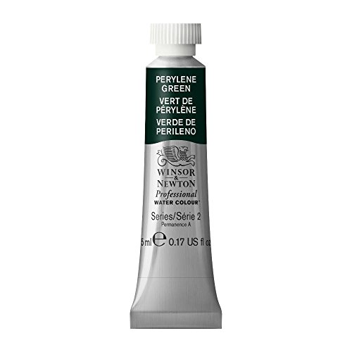 Green Watercolour - Winsor & Newton Professional Water Colour Paint, 5ml tube, Perylene Green