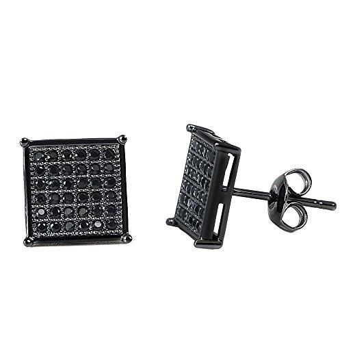 Black Square Earring - 8