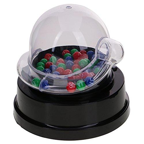 P Prettyia 高品質 透明なデザイン ミニ 電動 幸運番号 ピックマシン 宝くじ ビンゴゲーム用 公平