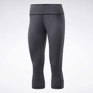 Reebok Training Supply Lux 3/4 Tight 2.0, Dark Grey Heather, 2X18W