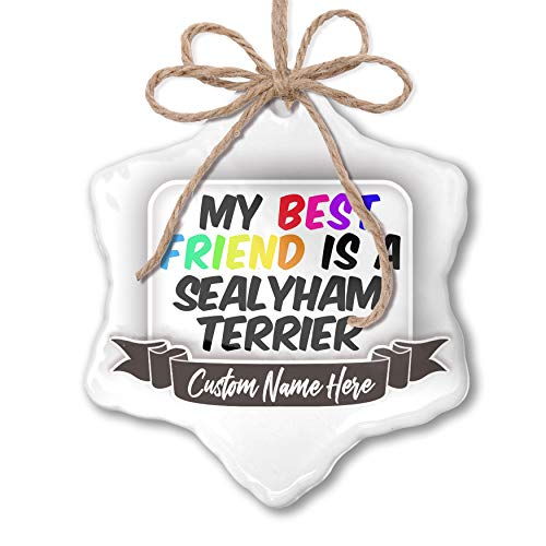 (NEONBLOND Create Your Ornament My Best Friend a Sealyham Terrier Dog from Wales Personalized)
