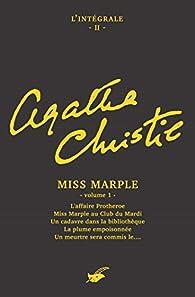 Intégrale Miss Marple - volume 1 (Les Intégrales du Masque) par Agatha Christie