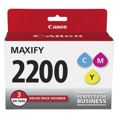 Canon PGI-2200 Three Color Ink Pack, Compatible to MB5420,MB5320,MB5120,MB5020,iB4120 and iB4020