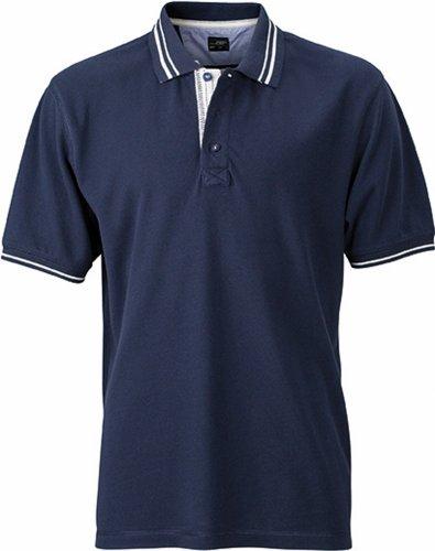 JN947 Herren Lifestyle Polohemd Poloshirt , Farbe: Navy , Gr. XL