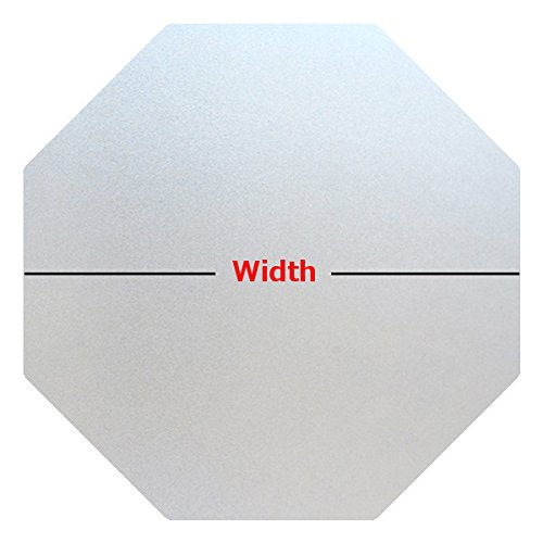 Precut Frosted Privacy Octagon Window Film, Self Static Adhesive Cling, 22 inches Width