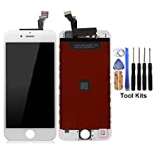 cellphoneage For iPhone 6 4.7 Inch New LCD Touch Screen Replacement Digitizer Assembly Repair Replacement White with Free Repair Tool Kit