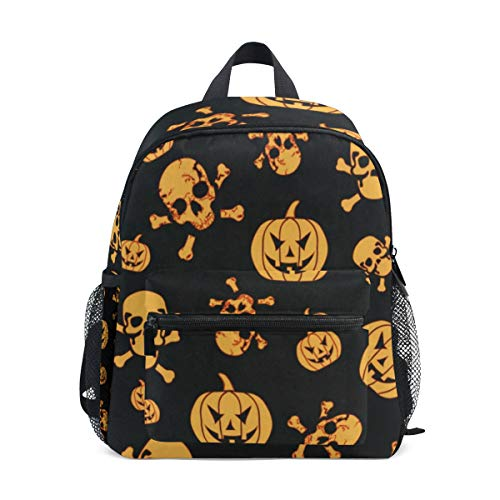 (Halloween Pumpkin And Ghost School Backpack For Boys Kids Preschool School Bag Toddler)