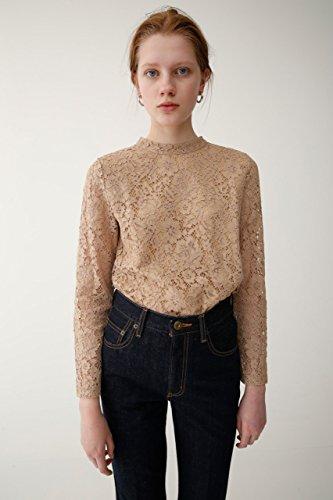 蛇行キャスト制限(マウジー) moussy Tシャツ HIGH NECK LACE TOP 010BSW80-0450 レディース