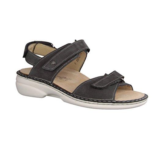 Finn Comfort visakh-Soft - Zapatos mujer Sandalia cómodo / relleno suelto, Gris, cuero (patagonia) gris