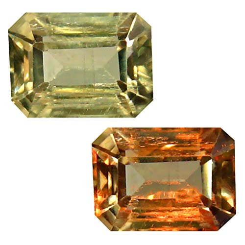 Deluxe Gems 2.10 ct Octagon Cut (8 x 6 mm) Unheated/Untreated Turkish Color Change Diaspore Natural Loose Gemstone