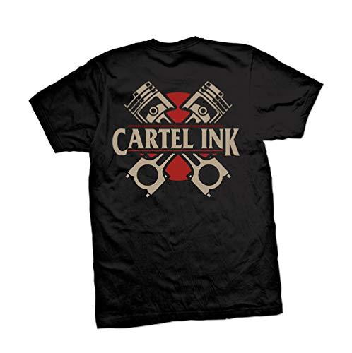 Cartel Ink Pistons Men's T-Shirt (5XL) Black