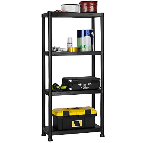 save 56 vonhaus 4 tier garage shelving unit with wall. Black Bedroom Furniture Sets. Home Design Ideas