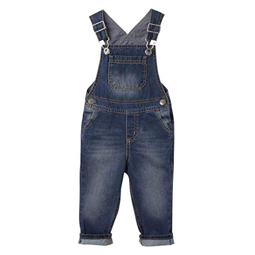 812a4415e OFFCORSS Toddler Boys Kids Infant Bib Matching Brother Twin Jean Denim  Cotton Cute Long Overalls Dungarees