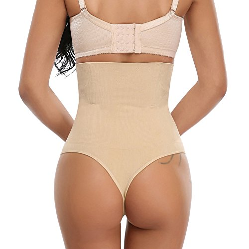 f2cf8796c7 MISS MOLY Women High Waist Trainer Seamless Thong Body Shaper Tummy Control  Panties low-cost