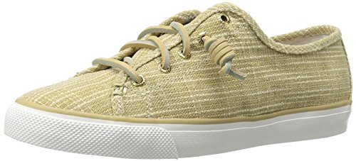 Sperry Top-Sider Women's Seacoast Sparkle Cnvs Gld Fashion Sneaker, Gold, 8 M (Sperry Sparkle Women)