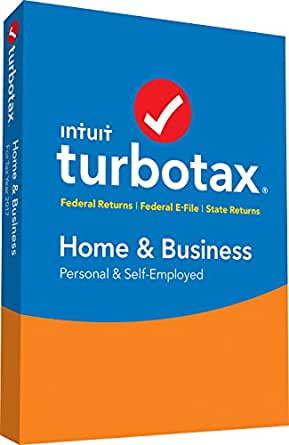 TurboTax Home & Business Tax Software 2017 Fed+Efile+State PC/MAC Disc [Amazon Exclusive]