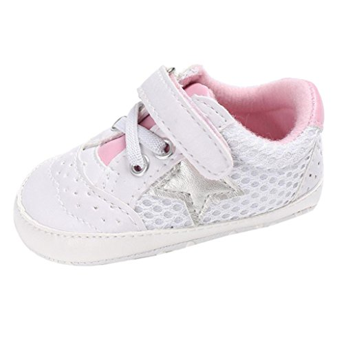 WeiYun Stars Baby Walkers Baby Shoes Sneakers Princess Soft Sole Shoes Toddler Casual Shoes (12Months, Pink) - Image 6