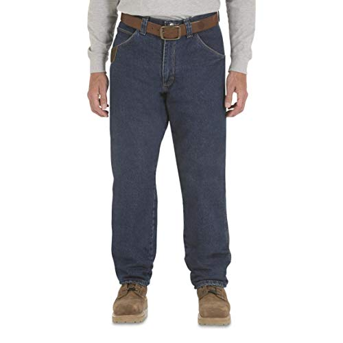 Wrangler Riggs Workwear Men's Thinsulate Lined Relaxed-Fit Jeans, Antique Indigo, W38 L30