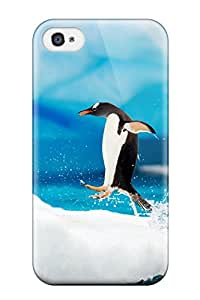 Pamela Sarich's Shop Hot 2647385K51714891 First-class Case Cover For Iphone 4/4s Dual Protection Cover Gentoo Penguins Antarctica