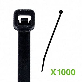 NavePoint 8 Inch Nylon UV Resistant Cable Wire Zip Tie 50 lbs - Black 1000 Pack Lot Pcs Qty
