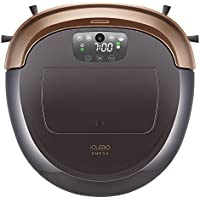 iClebo Omega Smart Vacuum Cleaner & Floor Mopping Robot, with Vision Mapping Technology, Black/Gold
