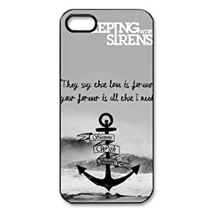 Sleeping with Sirens Cross Great Waves iPhone 5 5S On Your Style Christmas Gift Cover Case