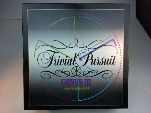 Trivial Pursuit  Genus Iii Master Game  By Parker Brothers
