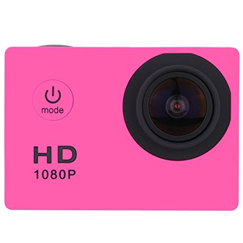 - Wensltd New Waterproof Full HD 1080P Sports Action Camera DVR Cam DV Video Camcorder (Hot Pink)