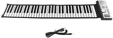 61 Teclas 128 Tonos Roll Up Piano Electrónico Teclado Portátil Teclado Digital Piano Flexible Recargable Instrumento Musical