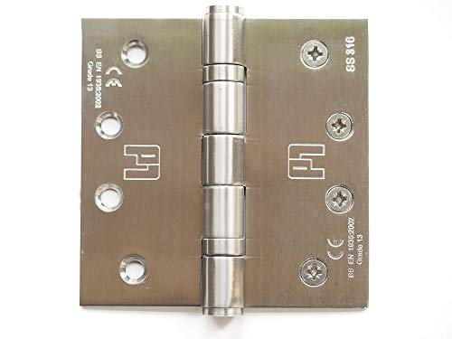 "Anti-Corrosion 4"" inch 316 Stainless Steel Door Hinges 2pk. for Commercial and Residential Heavy Doors. Reliable Under high Usage. Withstands Harsh temperatures Yet retaining Strength and Durability"