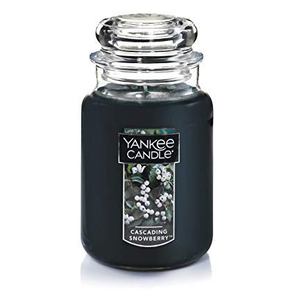 Yankee Candles Cascading Snowberry Large Jar Candle,Fresh Scent (Cascading Jars)