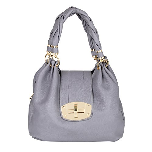 Gray Hobo Handbag - 2