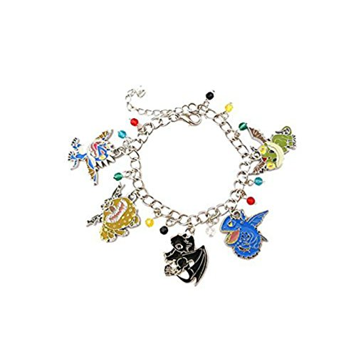 Athena Brands How to Train Your Dragon Charm Bracelet Quality Cosplay Jewelry Movie Series with Gift Box