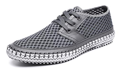 MOHEM Mens Womens Casual Mesh Water Shoes(WS3166-3Gray46) - Mesh Water Shoes