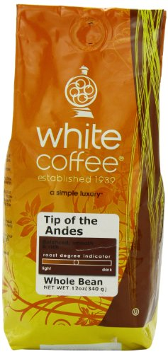 White Coffee Tip of the Andes Whole Bean Coffee, 12 - Coffee Andes