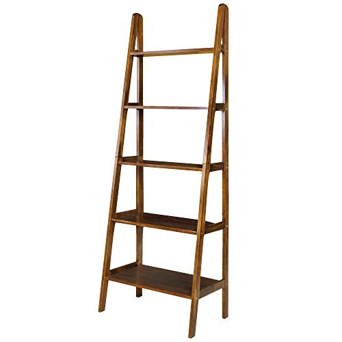 Cheap  Casual Home 176-54 5-Shelf Ladder Bookcase, Warm Brown