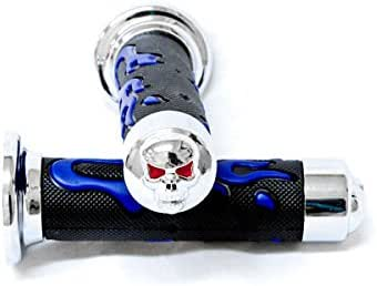 Krator ATV//PWC Flame Hand Grips Blue Set Handgrip Grip For Yamaha Blaster