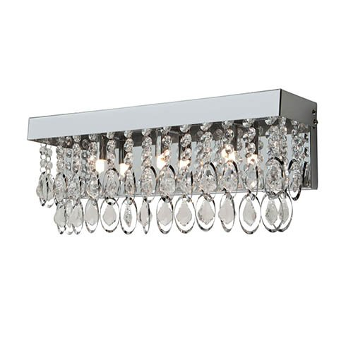 (Artcraft Lighting Elegante 3-Light Bathroom Vanity Light, Chrome)