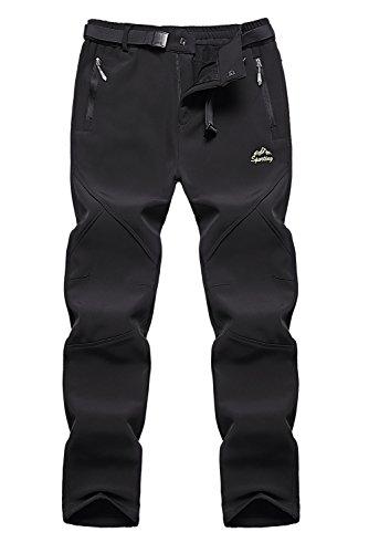 Anlamb+Women%27s+Outdoor+Winter+Water+Repellent+Fleece+Snow+Hiking+Pants+US1618W+Black+S