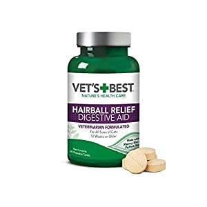 Vet's Best Cat Hairball Relief Digestive Aid| Vet Formulated Hairball Support Remedy | Classic Chicken Flavor 16