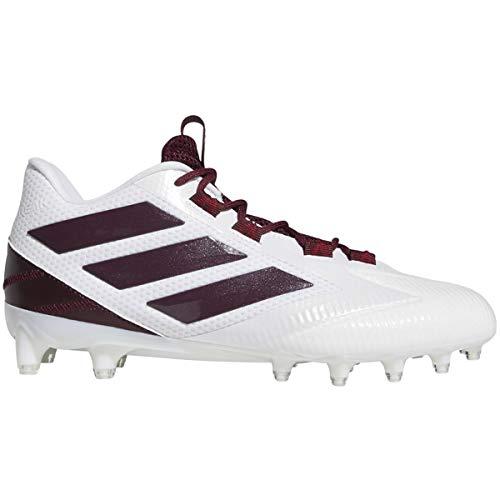 (adidas Men's Freak Carbon Low Football Shoe Maroon/White, 12.5 M US)