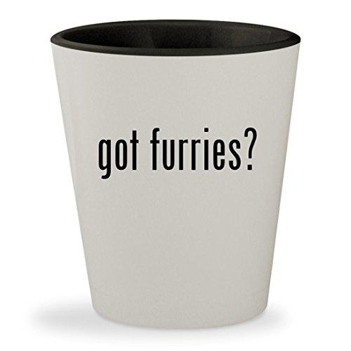 Fandom Furry Sale Costumes For (got furries? - White Outer & Black Inner Ceramic 1.5oz Shot)